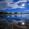 Ellis Reservoir Misty Moonlight 2016