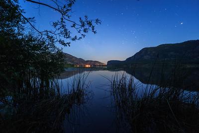 Vaseux Lake - Blue Hour