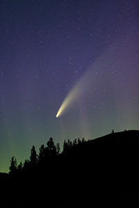 Comet Neowise Meets Lady Aurora