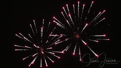 Night Photo; Fireworks; Fyrværkeri;