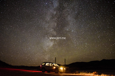 A car under the stars
