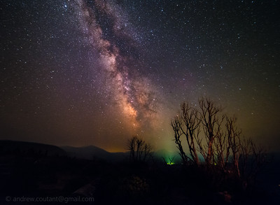 Milkyway with Mt Lassen in background from old station 8-19-17-1