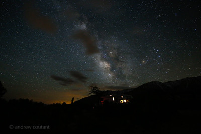 Milkyway over Camper Tuttle Creek CG  Lone Pine Ca-1