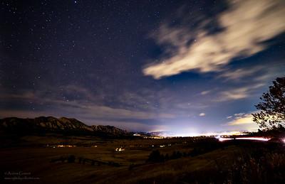 Flat Irons Boulder and Stars _MG_6963-Edit