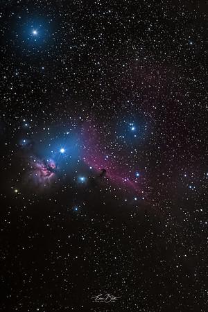The Horsehead and The Flame Nebula.