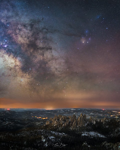 Cathedral Spires and the Milky Way.