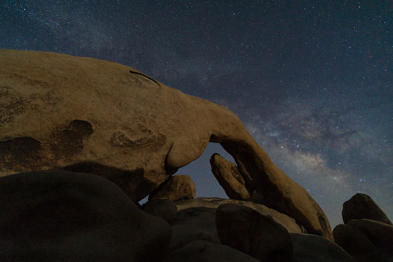 Arch Rock and Milky Way