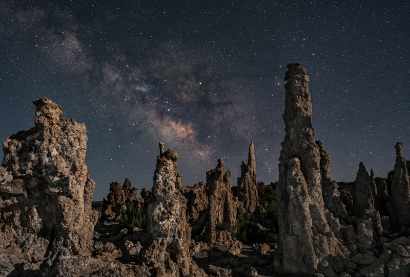 Milky Way rising over Mono Lake