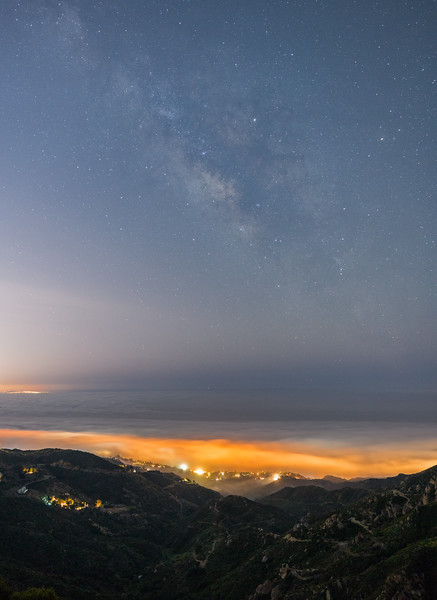 Malibu fog and Milky Way