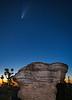 Comet Neowise over Mushroom Rock