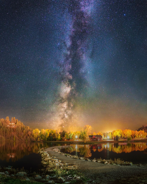 Autumn Rapid City and the Night Sky.