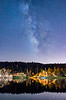 starry sky over big bear lake