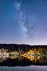 starry sky over big bear lake