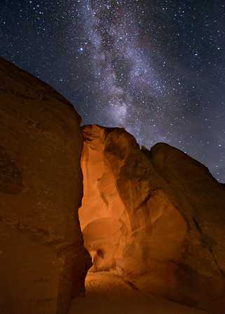 Entrance to Antelope Canyon at Night