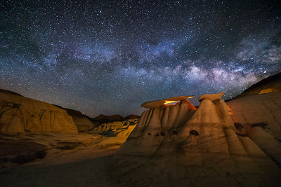 Flat Top Arch, Bisti Badlands