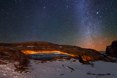 Mesa Arch at Night
