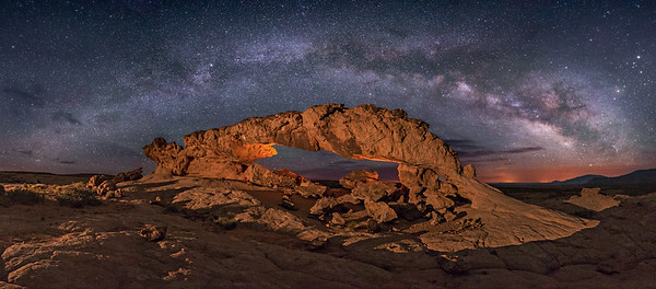 Sunset Arch Panorama at Night