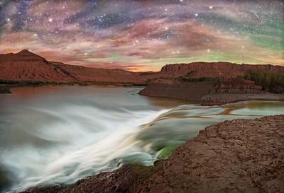 Cloudy Night at Paiute Falls