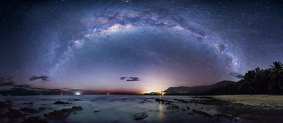 Panorama, The Milky Way by the Coral Sea (1)