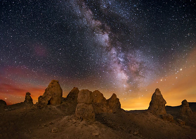 Trona Pinnacles in the Morning Twilight