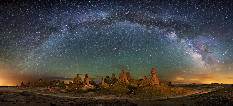 Trona Pinnacles Panorama