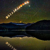Blood Moon Eclipse Over Lake Selmac, Oregon