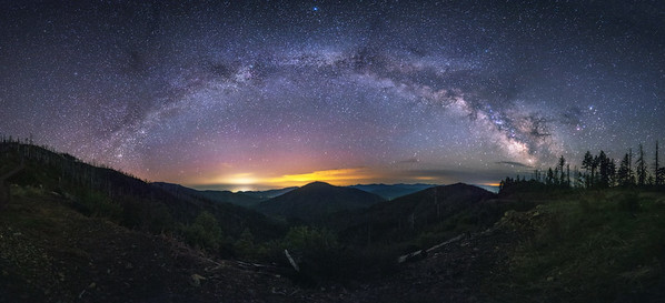 Milkyway Arch Over Grants Pass, Oregon