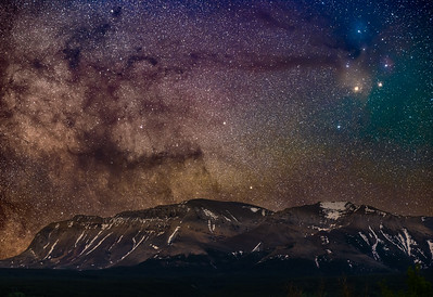 Clouds of Dust and Stars over Sofa Mountain