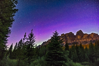 Big Dipper over Castle Mountain