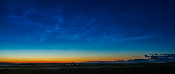 Comet NEOWISE with Noctilucent Clouds and ISS (July 5, 2020)