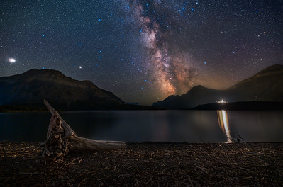 The Milky Way over Driftwood Beach