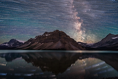 Star Trails over Bow Lake