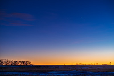 Jupiter and Saturn in Twilight #1