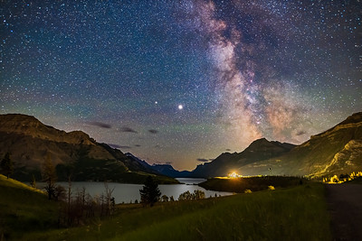 Milky Way and Planets over Waterton Lakes (July 2020)