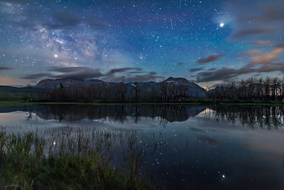 Jupiter and Saturn over Maskinonge Lake