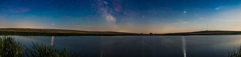 Planet Panorama at a Prairie Pond