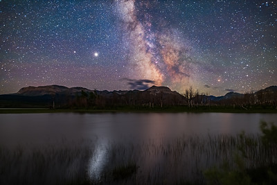 Milky Way over Maskinonge Pond