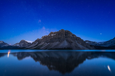 Planets Reflected in Bow Lake