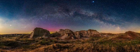 Milky Way Arch in Moonlight over Dinosaur Park