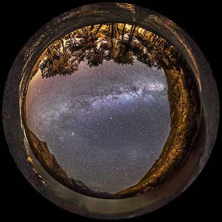 Milky Way from Cameron Bay (Fish-eye)