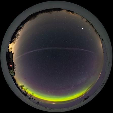 Aurora and Steve Arc Panorama (Spherical)