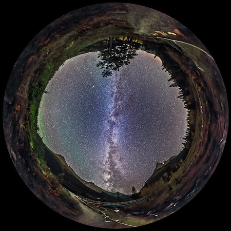 Milky Way over Red Rock Canyon (Fish-eye)