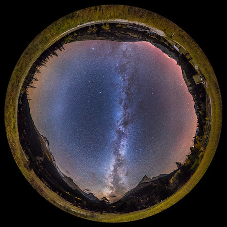 Autumn Milky Way Panorama at Red Rock Canyon
