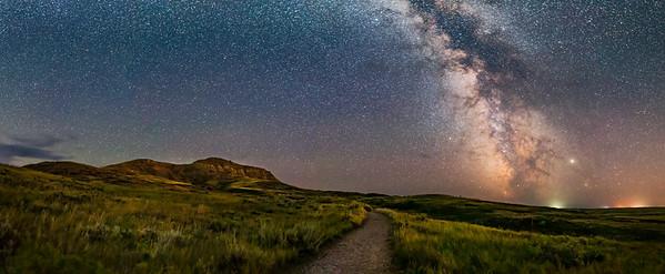 Milky Way at Eagle Butte, Grasslands National Park