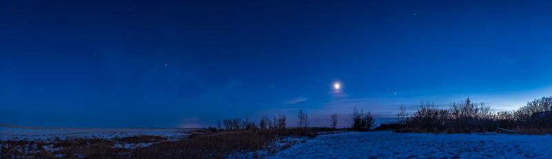 Planet Array in Twilight (Nov 20, 2020)