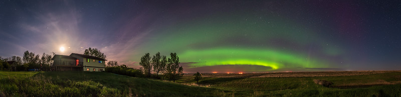 Aurora at Home Panorama (May 29, 2020)