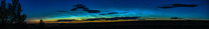 Noctilucent Clouds at Dawn Panorama (June 1-2, 2020)