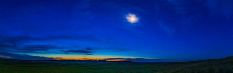 Orion in Dawn Twilight Panorama