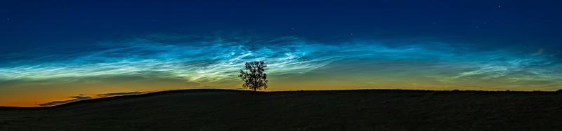 Noctilucent Clouds at Dusk with 85mm Lens (June 16, 2021)