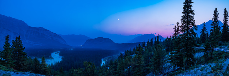 Smoky Sunset over the Bow Valley